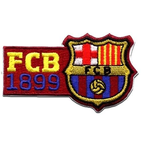 Aufnäher/Bügelbild - FC Barcelona 'FCB 1899' - dunkelrot - 8x4.6cm - Patch Aufbügler Applikationen zum aufbügeln Applikation Patches Flicken -