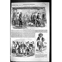 Una Stampa Antica del Popolo Cinese 1859