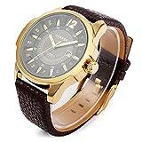 orologio degli uomini - CURREN Moderna in lega uomo orologio da polso quarzo regalo orologio sportivo dati nuovo Colore: Oro Caso + quadrante nero