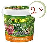 Oleanderhof® Sparset: 2 x COMPO Mediterrane Pflanzen Langzeit-Dünger, 1,5 kg + gratis Oleanderhof Flyer
