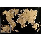 Promobo - Poster Carte du Monde avec Pays A Gratter Globe Trotter Enfant Ludique...