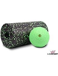 Blackroll Das Original - Standard Faszienrolle schwarz-grün + Ball 12 cm grün