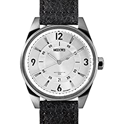 MEDOTA Grancey Men's Automatic Water Resistant Analog Quartz Watch - No. 2801 (Silver/Silver)