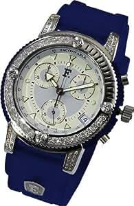 Façonnable - 170008002- Acquadream - Montre Femme Acier Chronographe - Quartz Analogique - Diamant - Bracelet Silicone Blanc