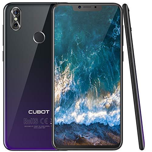 Cubot P20 (2018) Android 8.0 4G-LTE Dual SIM Smartphone ohne Vertrag, Ultra dünn 6.18″(19:9) In-Cell Screen FHD Display (2246×1080px) mit 4000 mAh Akku, 4GB Ram+64GB interner Speicher, Grau