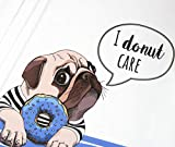 StickandStyle Panel Jersey Mops I Donut Care - weiß/blau Eigendruck BioBunt