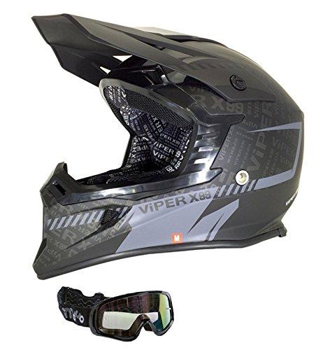 più economico come ordinare rapporto qualità-prezzo Caschi Moto: VIPER X99 Casco moto scooter Stereo con ...
