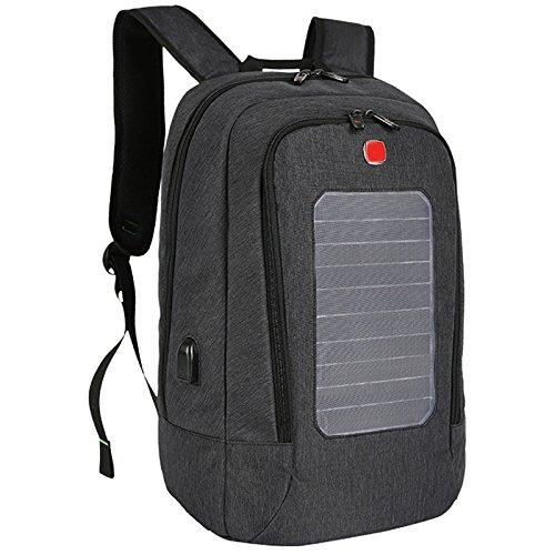 Zantec Rucksack Tasche fuer Jugend Student Male, Outdoor Reise Solar USB Lade Wasserdichte Atmungsaktive
