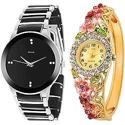 Kitcone Jwellery Bracelet Diamond Studded Multi - Colour Dial Women's Watch , Men's watch & Couple Watch-Type -8