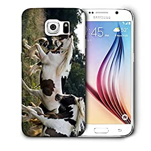 Snoogg Multicolor Horses Printed Protective Phone Back Case Cover For Samsung Galaxy S6 / S IIIIII