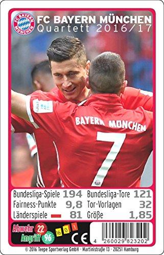 Preisvergleich Produktbild Teepe 23202 Sportverlag FC Bayern München Quartett 16/17