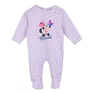 Disney-Nias-Infantil-Beb-Minnie-Mouse-Mameluco-Pijama-Beb-Blanco-Talla-74-9-Meses