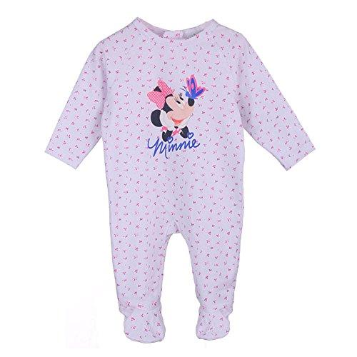Disney ragazze, nascita, bambino minnie mouse, topolina pagliaccetti, pigiama, bambino, bianco, taglia 62, 3 mesi