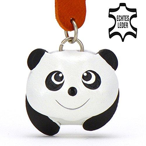Pandabär Panda - Glubschi Schlüsselanhänger Figur aus Leder in der Kategorie Plüschtier / Kuscheltier / Stofftier von Monkimau in schwarz weiß - Dein bester Freund. Immer dabei! - 5x2x4cm LxBxH klein, jeweils 1 Stück (Cupcake Kostüm Für Hunde)