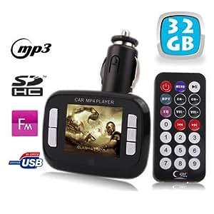 Yonis - Transmetteur Fm 1,8'' Lecteur Mp3 Mp4 Usb Sd Et Micro Sd 32Go Noir