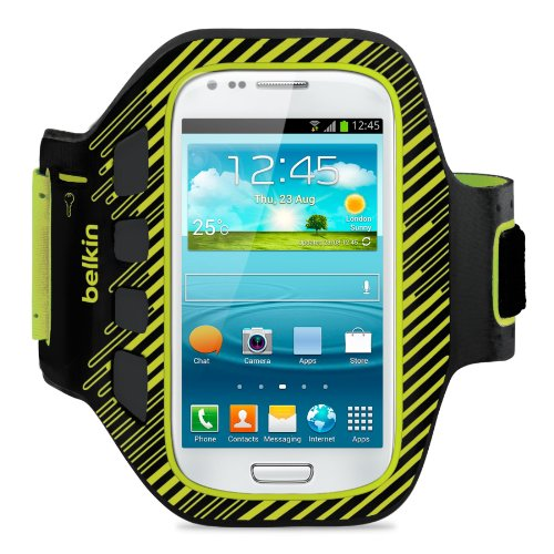 Gelb-belkin Components (Belkin Easefit Sportarmband Case (geeignet für Samsung Galaxy S III mini) schwarz/gelb)