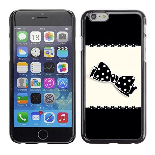 For Apple (5.5 inches!!!) iPhone 6 Plus, S-type® Bow Black White Polka Dot Pattern - Kunst & Design Hartplastik Handy-Schutzhülle Schale Hülle Case Cover (Pattern Bow Polka Dot)