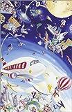 Poster 40 x 60 cm: Wimmelbild: Himmel und Weltraum von Bernd Lehmann - Hochwertiger Kunstdruck, Neues Kunstposter