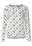 Street One Damen Langarmshirt 312724, Mehrfarbig (Off White 20108), 42