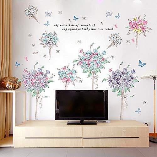 Frische Blume Ball Wandaufkleber Wohnzimmer Schlafzimmer Romantische Kinderzimmer Tv Wandpaste Zimmer Dekorative Hintergrund Wandaufkleber 82 X 142cm 142 Tv
