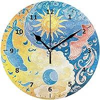 MERRYSUGAR Reloj de Pared silencioso, no Hace Ruido y no Hace Ruido en el Espacio