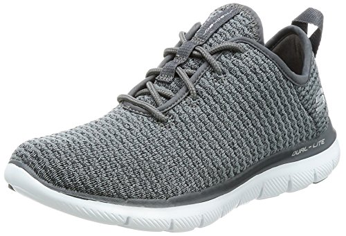 Skechers Damen Flex Appeal 2.0-Bold Move Slip On Sneaker, Grau (Charcoal), 36 EU (Moves Bold)