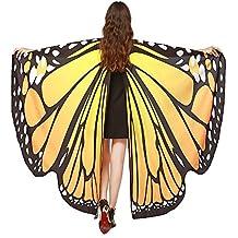 GoldLiiver Alas de Mariposa Disfraz para Mujer Disfraz de alas de mariposa Alas de La Mariposa