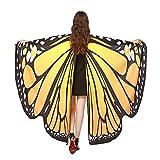 GoldLiiver Farfalla Ali Scialle Sciarpe costume Mantelli Donne danza costume Accessorio