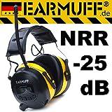 25dB Original EARMUFF Radio Kapsel Gehörschutz Kopfhörer mit SmartPhone und