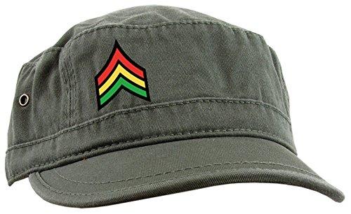 Casquette Urban Unisexe / Reggae / Captain Jamaica Jah Army Kaki
