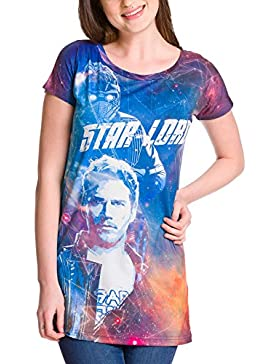 Guardianes de la Galaxia Vol. 2 camiseta de chica Star-Lord Allover Print Loose Fit de Elbenwald