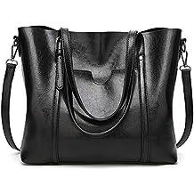 176ac10a0498a BestoU Damen Handtasche Leder Tasche Shopper Damen Handtaschen Groß Schule  Schultertasche Frauen Umhängetasche