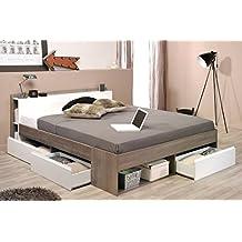 suchergebnis auf f r stauraumbett weiss 160x200 cm. Black Bedroom Furniture Sets. Home Design Ideas