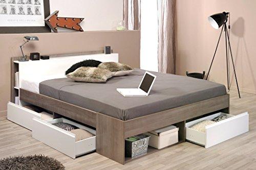 expendio Doppelbett Morris 2 Eiche Silber Nb 160x200 Ehebett Bett Schlafzimmer Bettgestell