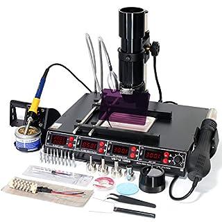 YIHUA 1000B 4 in 1 Soldering Iron HOT AIR REWORK PREHEATING Infrared BGA Station UK