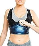SKONO Sweat Shaper Vest for Women, Polymer Shapewear, Workout Tank top for Weight