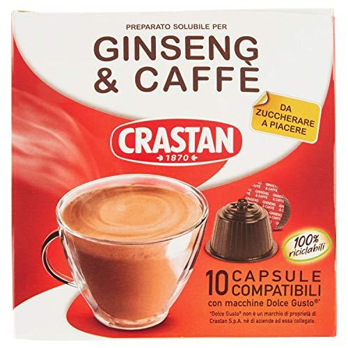Crastan Capsule Compatibili Dolce Gusto - Ginseng e Caffè da Zuccherare - 6 confezioni da 10 capsule [60 capsule]