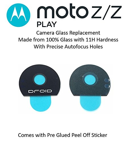 Kyrahh Back Rear Camera Glass Lens Replacement for Motorola Moto Mobile Phones (Moto Z Play)