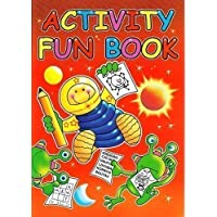 1x RED CHILDRENS LEARNING ACTIVITY & PUZZLE FUN COLOURING & TRACING PAPER A4 BOOKS