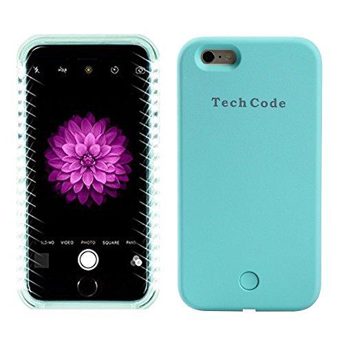Samsung Galaxy S6Éclairage LED couverture de cas/Schutzhülle, elecfan Smart Étui de protection Téléphones avec éclairage LED illuminée Case, 2016projet de nouvelles rose bleu