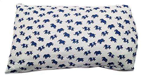 Baby Kinder Kopfkissenbezug Bio-Baumwolle GOTS 11 Farben Kissenbezug Kissenhülle Jersey 40x60cm (Elefant Gewirkt)