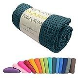 Yogabum Non-Slip Premium Yoga Mat Towels (Dark Teal)
