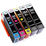 LxTek Kompatibel Ersatz für HP 364XL 364 Druckerpatronen für HP Deskjet 3070A, Officejet 4622, Photosmart 5510 5511 5512 5514 5515 5522 5524 5520 6510 6520 6512 6515 Drucker (2 Schwarz, 1 Cyan, 1 Magenta, 1 Gelb)