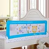 Kinder Gitter Bettgitter Rausfallschutz Bett Bettschutzgitter Faltbar Matratze für Jugendbett, Einzelbett,Doppelbett (150cm*65cm, blau)