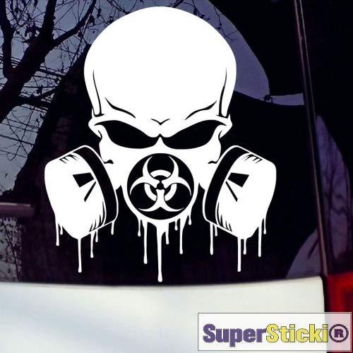 Biohazard Gasmaske Totenkopf skull scull ca 20 cm Tuning Racing Rennsport Renndecal Aufkleber Sticker Decal aus Hochleistungsfolie Aufkleber Autoaufkleber Tuningaufkleber Racingaufkleber Rennaufkleb