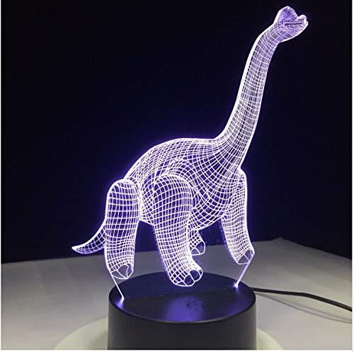 Usb Nachtlicht Dinosaurier Tier 3D Lampe Led Bunte Atmosphäre Touch Sensor Nachtlicht Acryl Gravur Figur Kreative Gifs