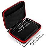 deleyCON Case For Navigation Devices Navi Case - GPS up to 6 & 6.2 (17x12x4.5cm) Robust & Shockproof 1 Inner Compartments Net Pockets - Red