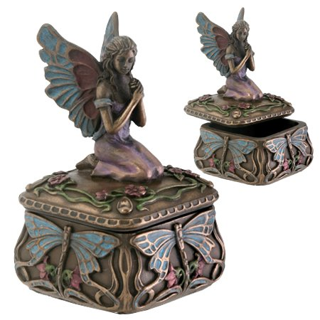 Dragonfly Fairy Box Jewelry Holder Decoration Accessory Collectible by YTC -