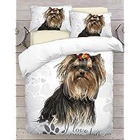 Weihnachten Hund Westie Einzeln Bettbezug /& Kissenbezug Set Weihnachten Lichter