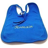 dea-concept babero infantil - personalizable con nombre - algodón organico - azul